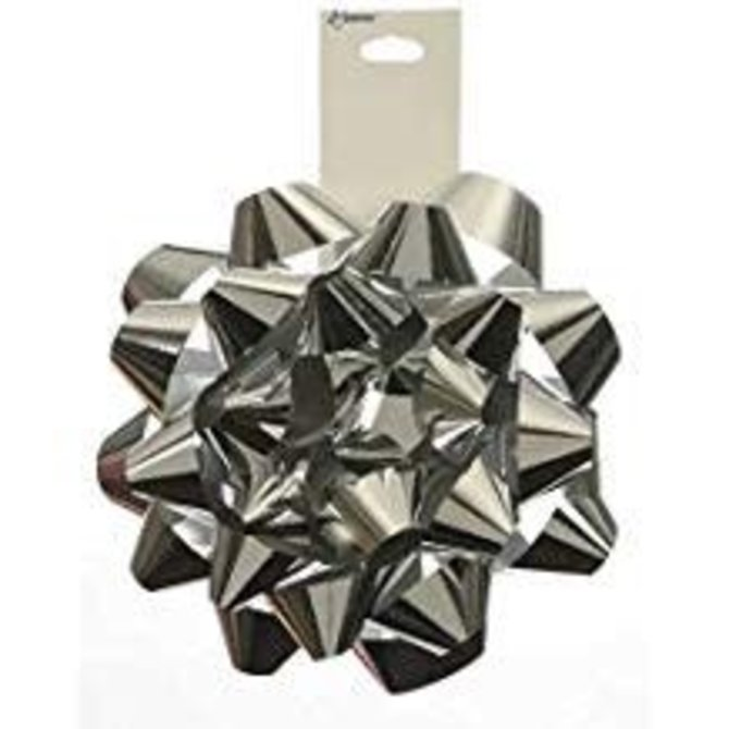 "6"" Metallic Bow- Silver"