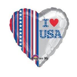 "I Heart USA Balloon, 18"" (#3)"