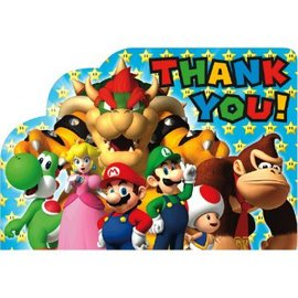 Super Mario Brothers™ Postcard Thank You Cards, 8ct