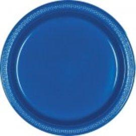 "Bright Royal Blue Plastic Plates 9"", 20ct"