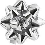 "13"" Bow- Silver Glitter"