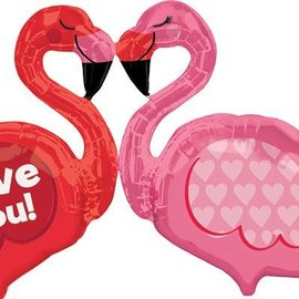 """Love You Flamingo Balloon, 46"""""""
