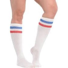Red, White And Blue Knee Socks