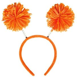 Orange Pom Pom Headbopper