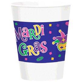 Mardi Gras Plastic Cups 16oz 25ct