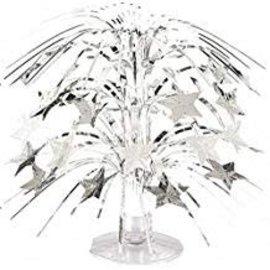 "Mini Star Cascade Centerpiece- Silver, 8.5"""