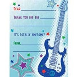 Rockstar Fill-in Thank You Cards, 8ct