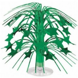 Mini Star Cascade Centerpiece- Green, 8.5""