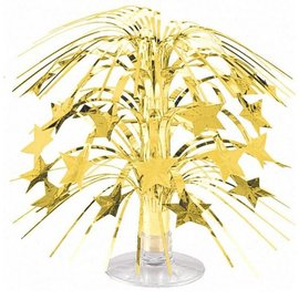 "Mini Star Cascade Centerpiece- Gold, 8.5"""