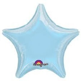 Pastel Blue Star Balloon, 19""