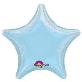 """Pastel Blue Star Balloon, 19"""""""