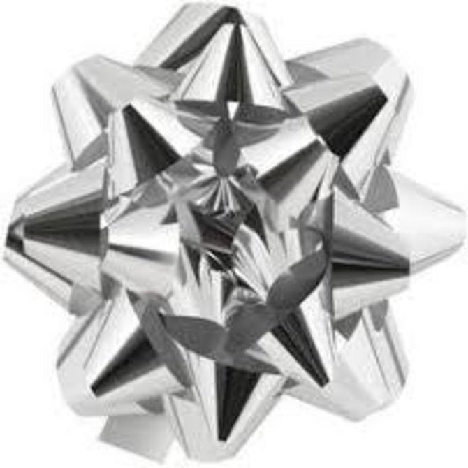 "9"" Bow - Silver Glitter"