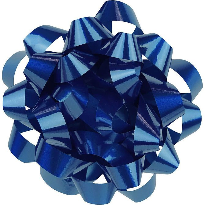 """9"""" Lacquer Bow - Royal Blue"""