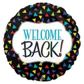 """Welcome Back Triangles Balloon, 18"""""""