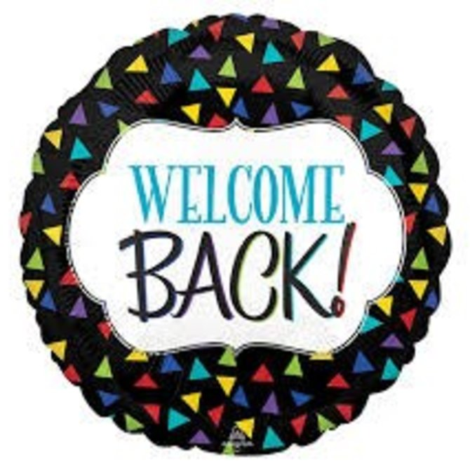 Welcome Back Triangles Balloon, 18""
