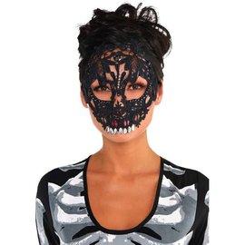 Black Lace Skull Mask