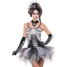 Black and Bone Petticoat Dress