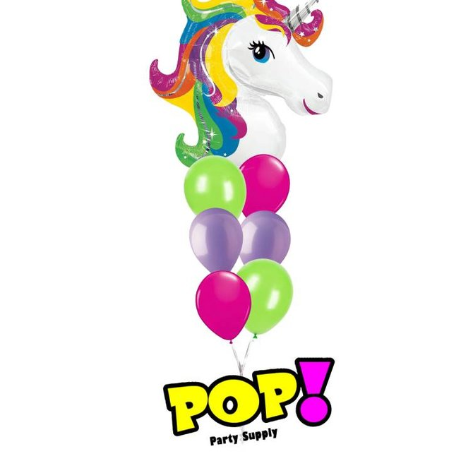 Rainbow Unicorn Balloon, 33""