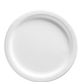 """Frosty White Paper Plates, 9"""""""