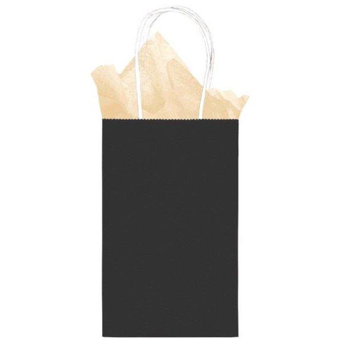 a5711bdae239 Small Kraft Bag- Black - POP! Party Supply