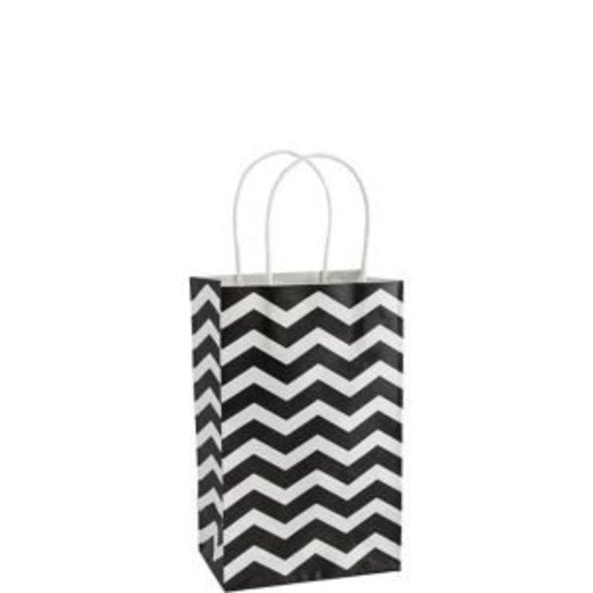 Kraft-Black Chevron Small Bag