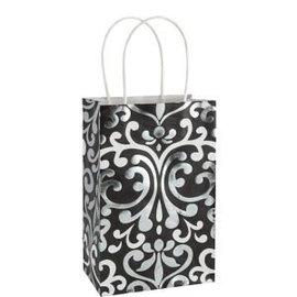 Kraft Bag-Black/White/Metallic Small Bag