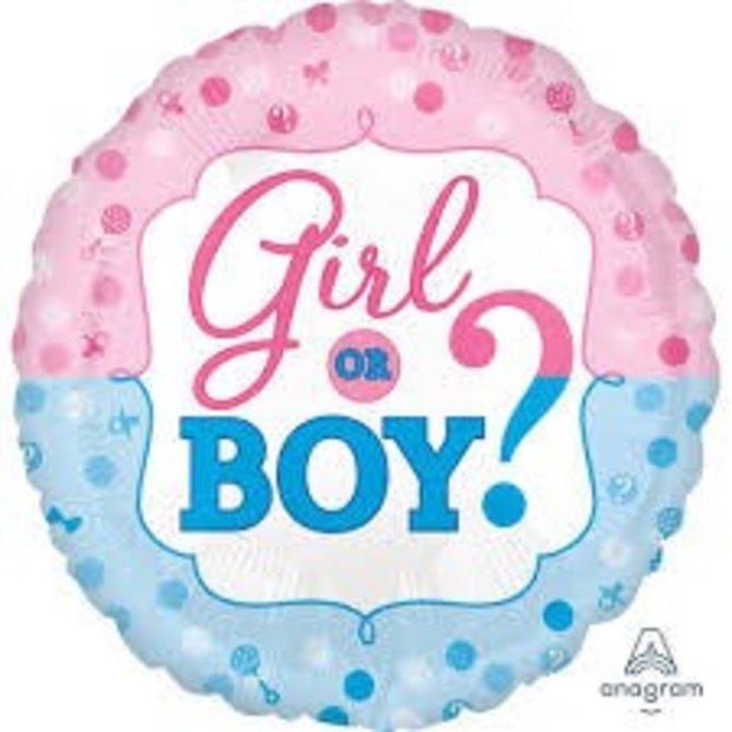 """Girl or Boy Balloon, 18"""""""