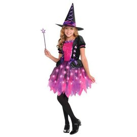 Girls Light-Up Sparkle Witch (#208)