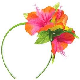 Hibiscus Headband w/ Fabric Flowers