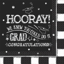 Hooray Grad Luncheon Napkins-36ct