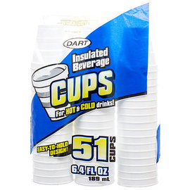 Insulated Beverage Cups 6.4 fl oz, 51ct