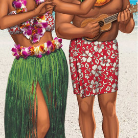 "Luau Stand in Poster 30""-60"""