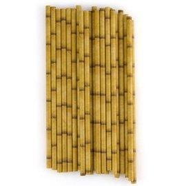 Bamboo Printed Straws - 12 Pc.Pk.