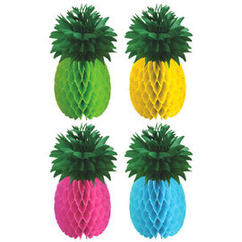 Pineapple Honeycomb Centerpieces, 4 ct.