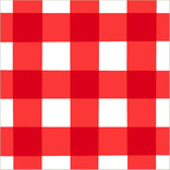 American Summer Red Gingham Luncheon Napkins, 16ct