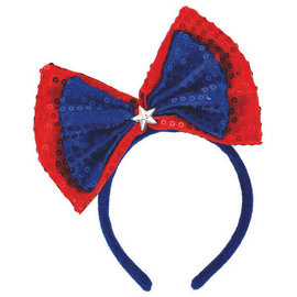 Sequin Patriotic Bow Headband