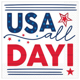 USA All Day Luncheon Napkins, 16ct