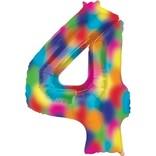 """34"""" 4 Rainbow Number Shape Balloon"""