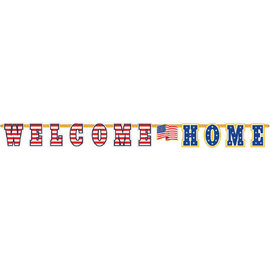 Welcome Home Giant Illustrated Letter Banner
