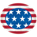 """Americana Oval Paper Plate, 12"""", 18ct"""