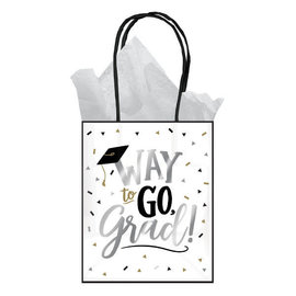 Grad Small Kraft Gift Bag, 6ct