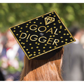 Goal Digger Grad Cap Decorating Kit