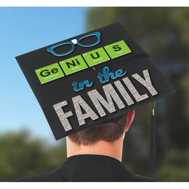 Genius in the Family Grad Cap Decorating Kit