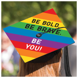 Grad Cap Decorating Kit - Rainbow