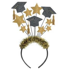 Grad Caps Glitter Headpiece
