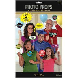 Grad Family Photo Props, 13ct