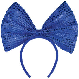 Blue Big Bow Headband
