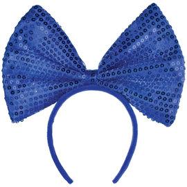 Blue Big Bow Headband