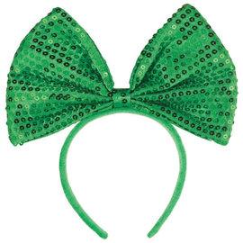 Green Big Bow Headband