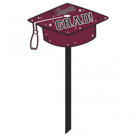 School Colors Yard Sign - Berry